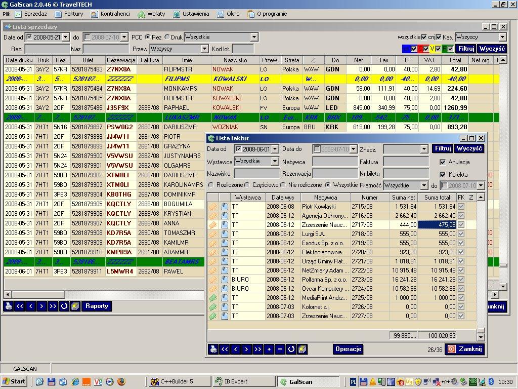 galscan podglad UI system do fakturowania
