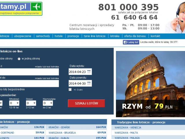 latamy.pl podgląd wyszukiwania tanie linie lotnicze tradycyjne bilety lotnicze