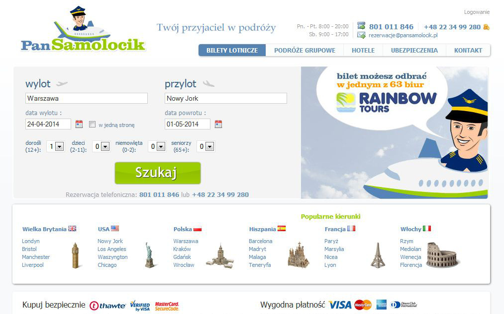 pansamolocik.pl group travel hotels air insurance