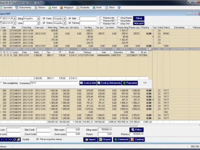 galscan Automatyczne porównanie billingów IATA z danymi zawartymi w GalScanie