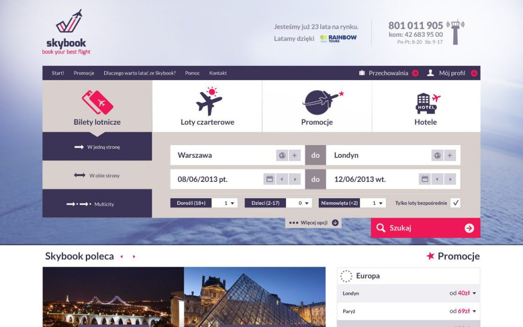 skybook preview of book your best flight
