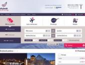 strona skybook bilety lotnicze loty czarterowe hotele