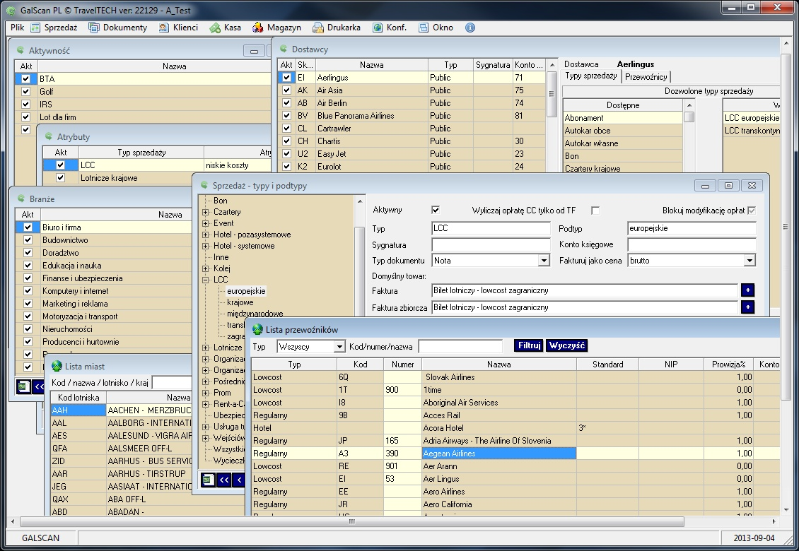 galcan preview three invoicing modes: automatic, semi-automatic, manual