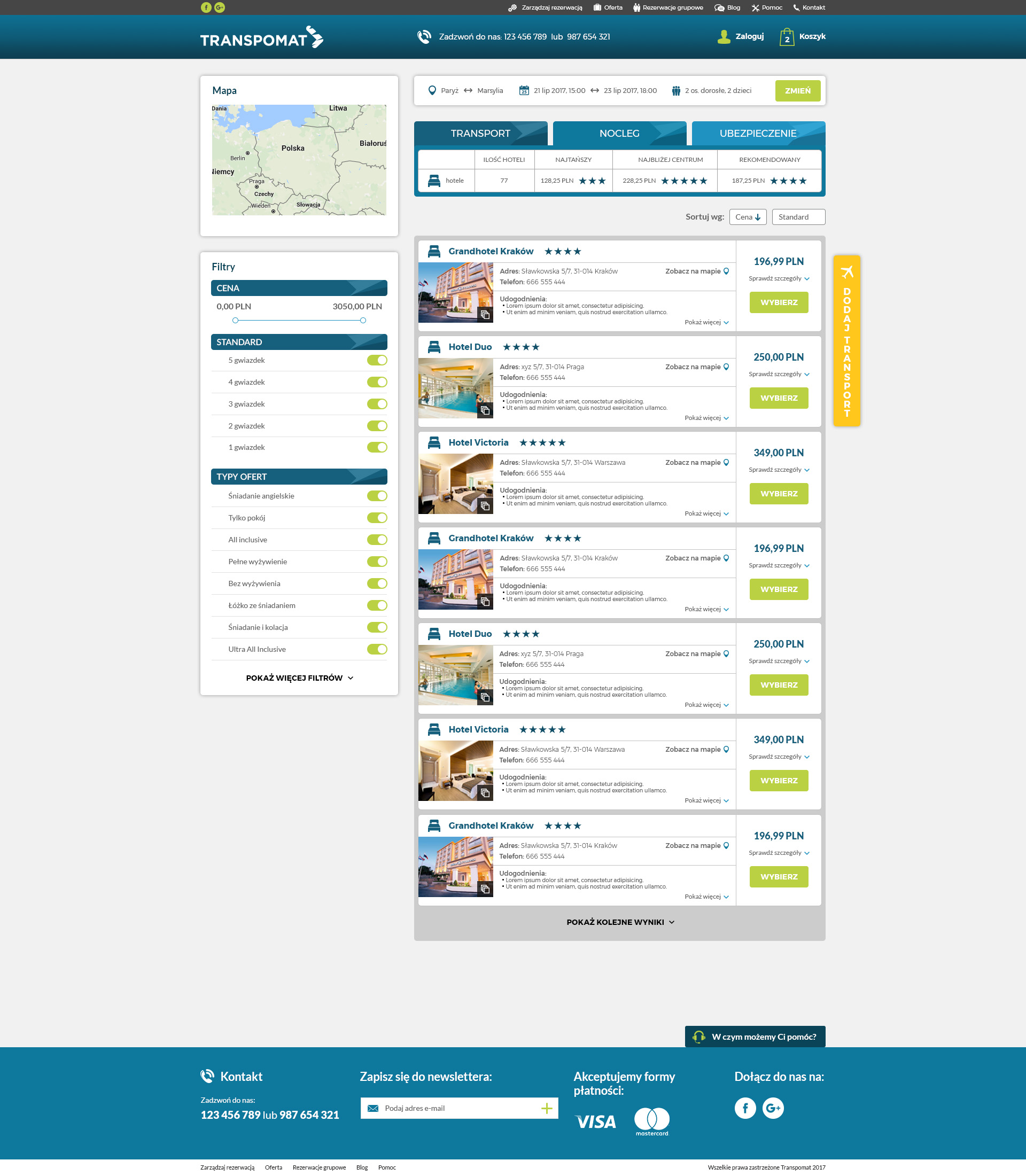 transpomat search preview for best destinations it rental company