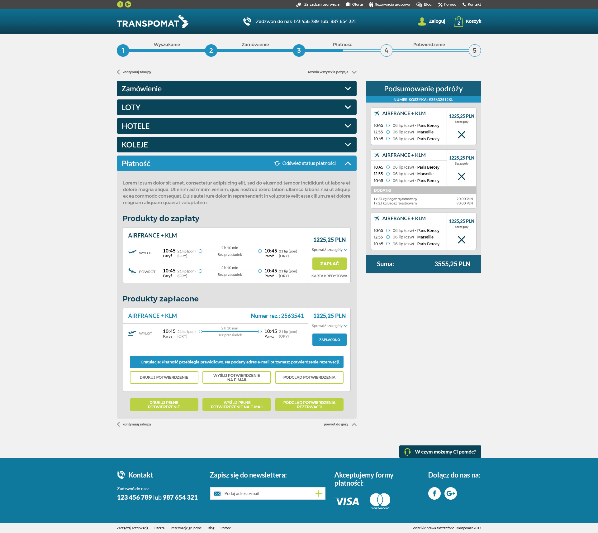 preview of transpomat reservation management system flights hotels railways professional websites