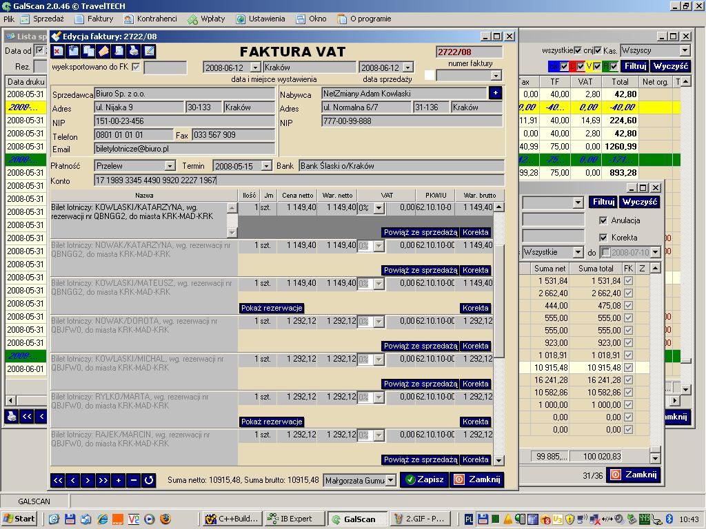 galScan fakturowanie system do wystawiania faktur