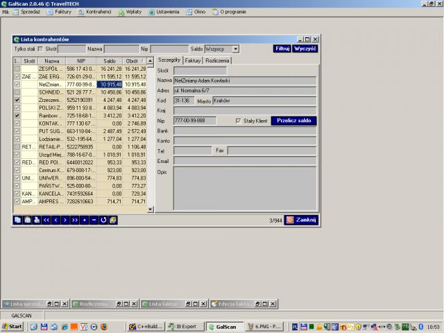 Oprogramowanie typu mid-office stworzone w celu usprawnienia i automatyzacji procesu fakturowania galscan