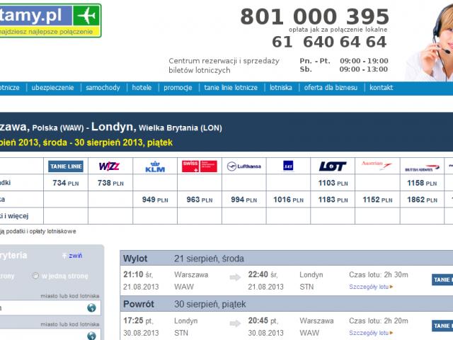 witryna latamy.pl najlepsze połączenia lotnicze bez przesiadki rezerwacja i sprzedaż biletów lotniczych