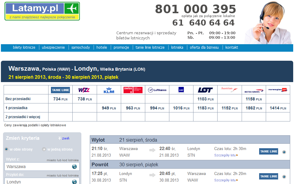 latamy.pl website the best flight connections booking and airline tickets sale