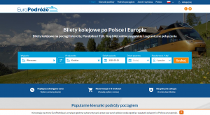 europodroze.pl website design preview train tickets Poland and Europe website customization web development company