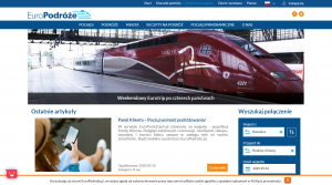 Europodroze page search connection train panoramic travel creating online stores