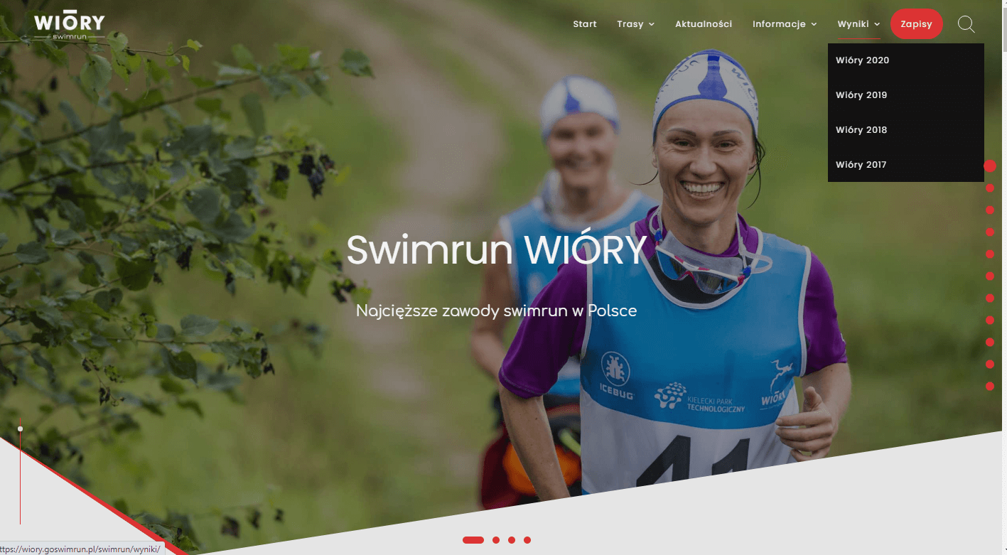 goswimrun.pl main page preview